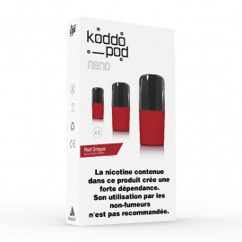 Pack de 3 Pods de 2ml Red Commander Le French Liquide KoddoPod