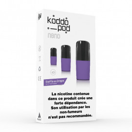 Pack de 3 Pods de 2ml Red Dingue Le French Liquide KoddoPod