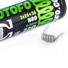 Pack de 10 Coils Alien Ni80 (26x3+36) Wotofo