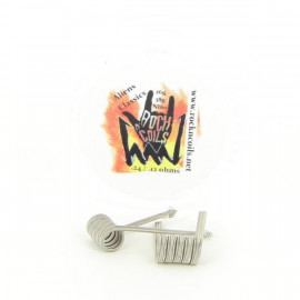 Boite de 2 Coils Aliens Classics 26gax3+38ga 0.12ohms NI80 Rock n' Coils