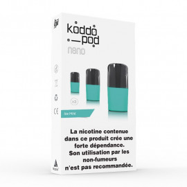 Pack de 3 Pods de 2ml Ice Mint Le French Liquide KoddoPod