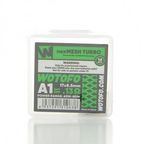 Pack de 10 coils NexMesh Turbo A1 0.13ohm Wotofo