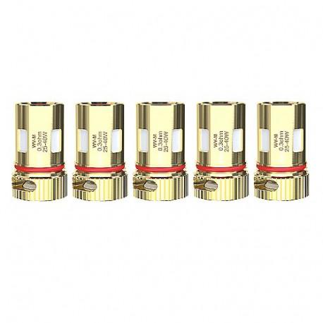 Pack de 5 resistances WV-M 0,3ohm R80 Wismec