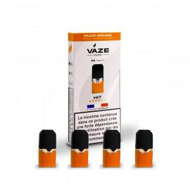 Pack de 4 Pods de 0,75ml Peach Orange Vaze Vape 20mg
