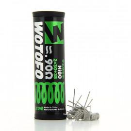 Pack de 10 coils Dual Core Fused Clapton NI80 0.9ohm Wotofo