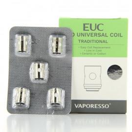 Pack de 5 résistances Traditional EUC Clapton 0.5ohm Vaporesso