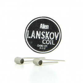 Boîte de 2 coils Alien 0.4ni+0.1ni 0.12ohm Lanskov