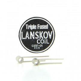 Boîte de 2 coils Triple Fused 0.35f+0.1ni 0.15ohm Lanskov