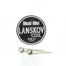 Boîte de 2 coils Alien Diesel 0.4ni+0.1ni 0.15ohm Lanskov
