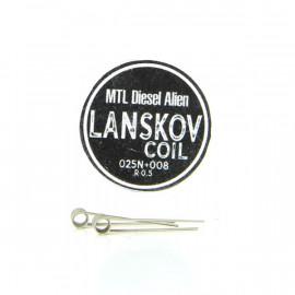 Boîte de 2 coils MTL Alien Diesel 0.25ni+0.08ni 0.5ohm Lanskov