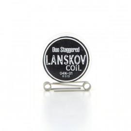 Boîte de 2 coils Duo Staggered 0.4ni+0.1ni 0.13ohm Lanskov