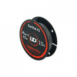Kanthal Clapton 28gaX2+32ga (0.3x2+0.2) bobine 5m Youde
