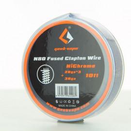 N80 Fused Clapton 28GAx3 + 36GA Bobine 3m GeekVape