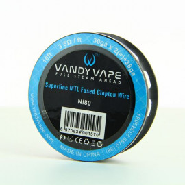 Superfine MTL Fused Clapton Wire NI 80 30gaX2 + 38ga Vandy Vape