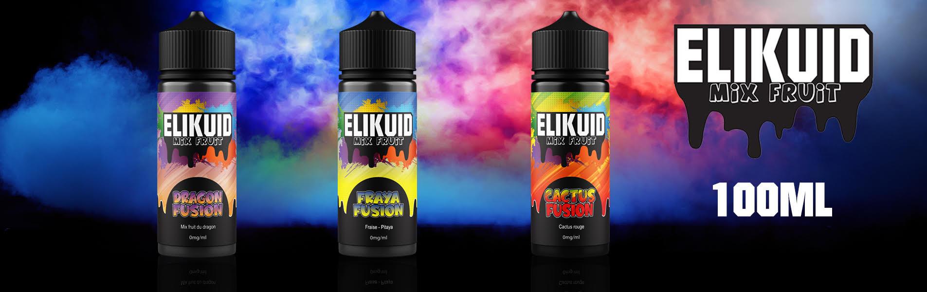 Savoureusement fruités et en format 100 ml, les liquides belges Elikuid plairont au plus grand nombre !