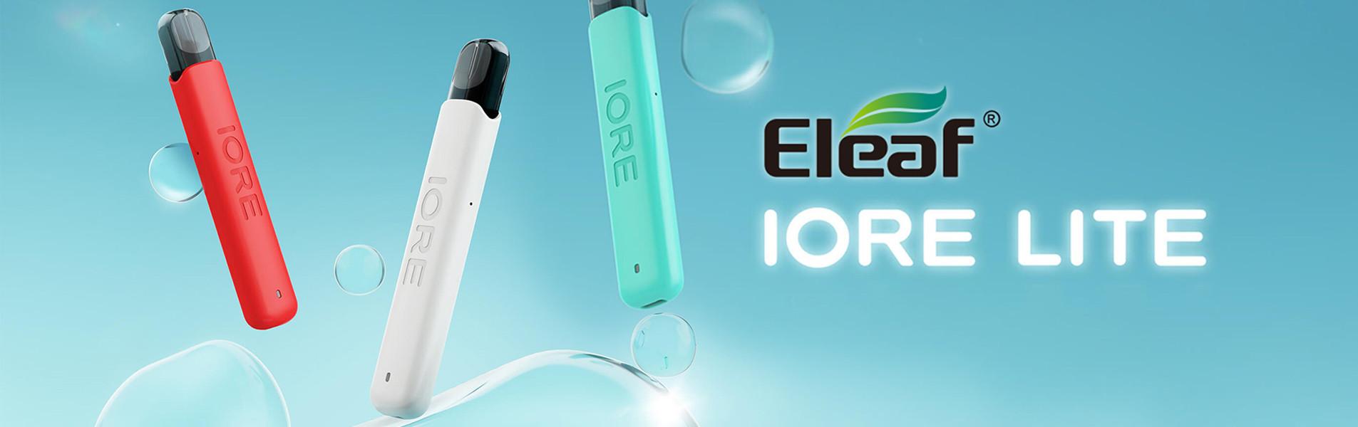 Le kit Iore Lite Pod d'Eleaf se distingue par sa taille ultra réduite et son design simple et minimaliste.